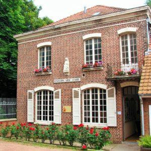 La façade de la maison dans laquelle l'abbé Lemire a vécu de 1899 à 1928. (Photo Jean-Pascal Vanhove)