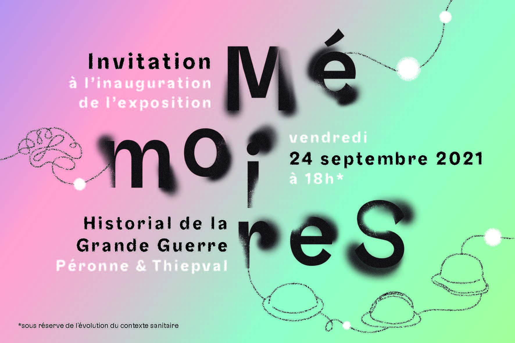 Affiche exposition Mémoires à Péronne