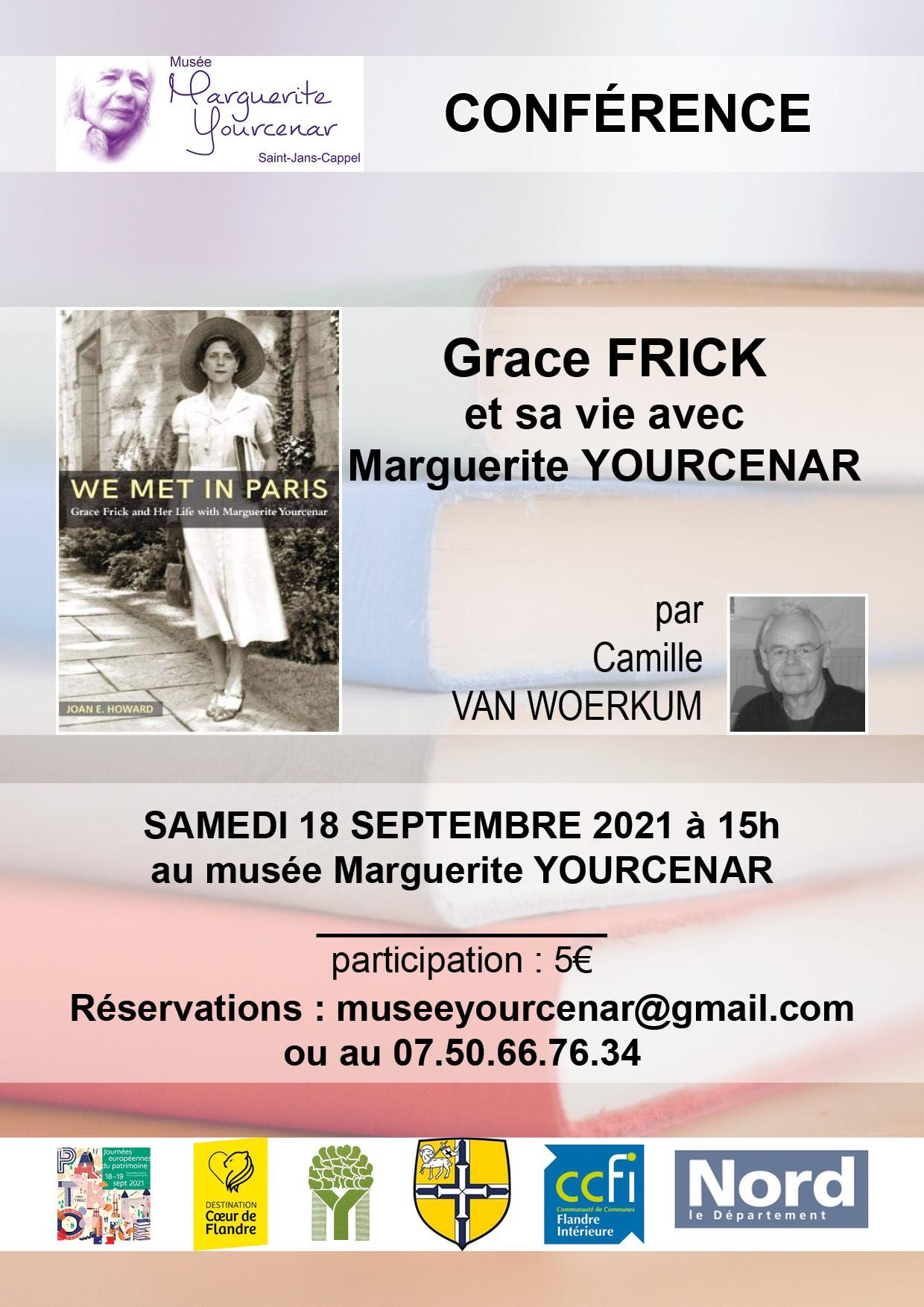 Conférence Grace Frick au Musée Yourcenar