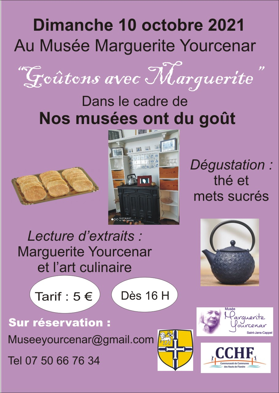 Affiche Goûtons avec Marguerite Yourcenar