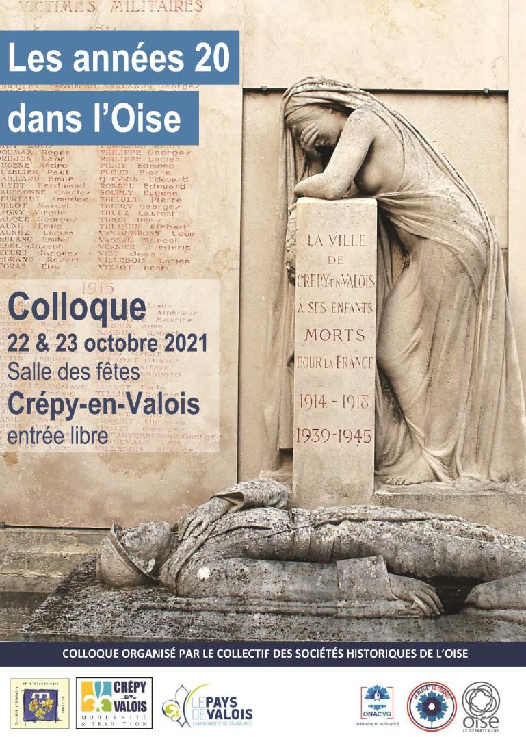 Affiche Colloque Les années 20 dans l'Oise