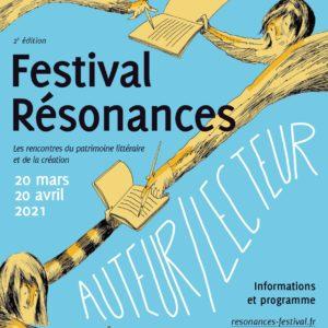 Affiche Festival Résonances 2021 Auteur Lecteur
