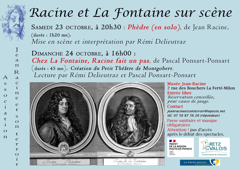 Racine et La Fontaine sur scène